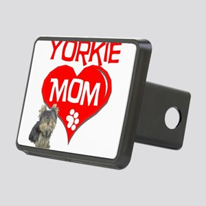 yorkie mom Rectangular Hitch Cover