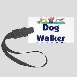 dog walker-3 Large Luggage Tag