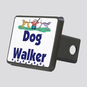 dog walker-3 Rectangular Hitch Cover