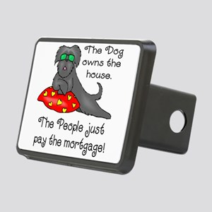 dog owns house black t Rectangular Hitch Cover