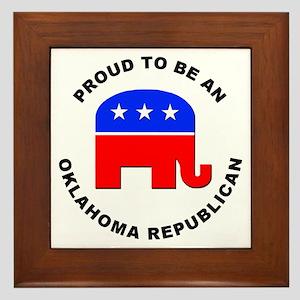 Oklahoma Republican Pride Framed Tile
