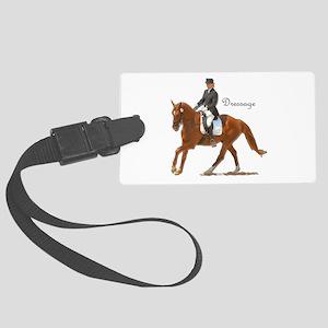 Dressage Horse-2 Large Luggage Tag