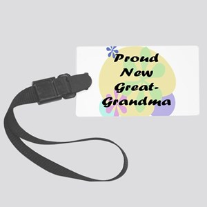 proud new great grandma black Large Luggage Ta