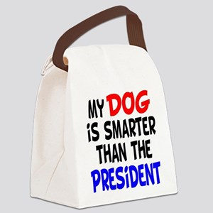 dog smarterz-1 Canvas Lunch Bag