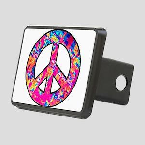 peace pink multi2 black Rectangular Hitch Cove