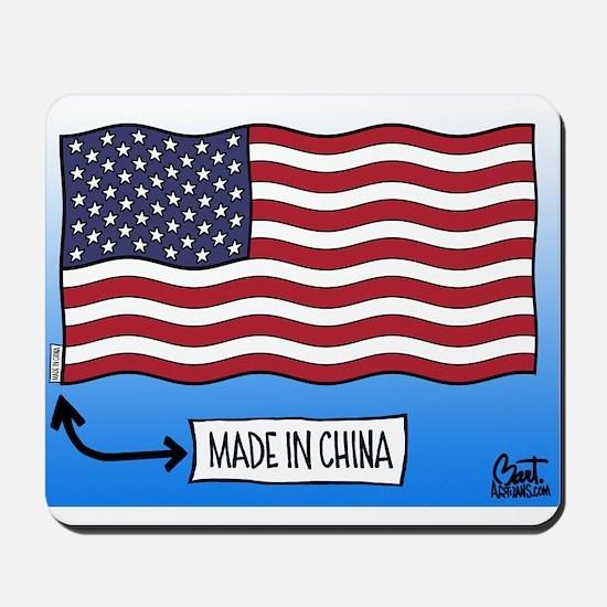 Outsourced Flag Mousepad