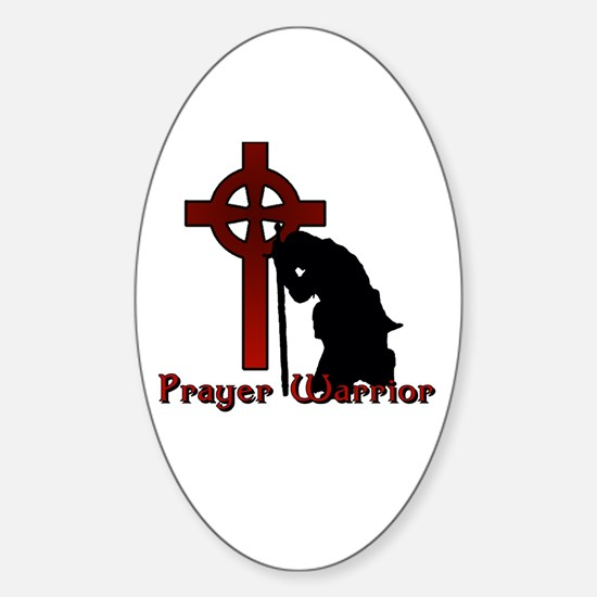 Prayer Knight Red Sticker (Oval)