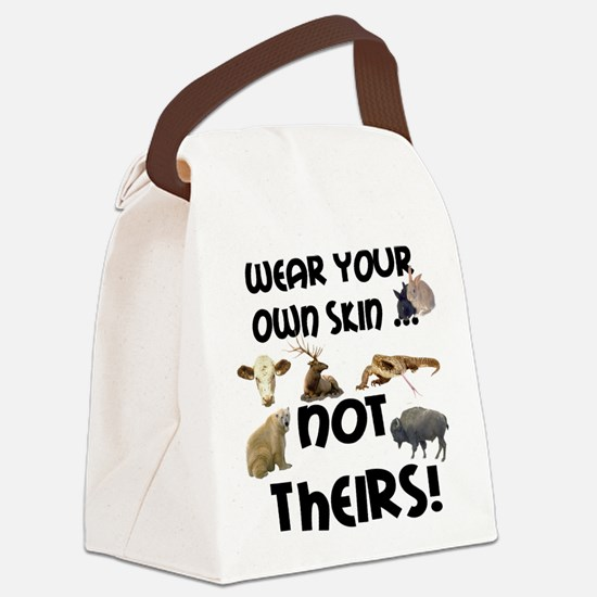 2new wear own skin4.png Canvas Lunch Bag