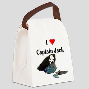 I heart captain jack Canvas Lunch Bag