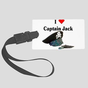 I heart captain jack Large Luggage Tag