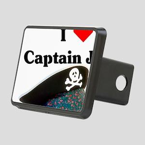 I heart captain jack Rectangular Hitch Cover