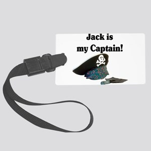 jack is my captain Large Luggage Tag