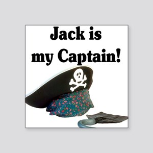 """jack is my captain Square Sticker 3"""" x 3"""""""