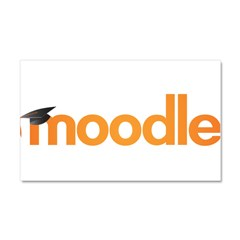 Moodle Logo Car Magnet 20 x 12