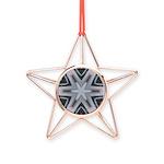 roads 6pt Copper Star Ornament