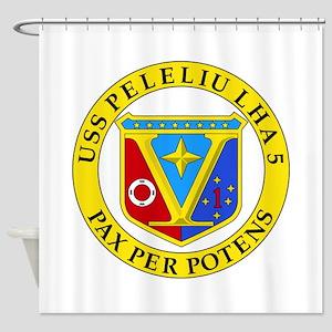 US Navy USS Peleliu LHA 5 Shower Curtain