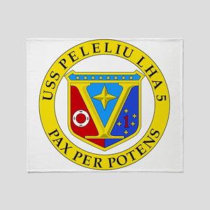 US Navy USS Peleliu LHA 5 Throw Blanket