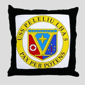 US Navy USS Peleliu LHA 5 Throw Pillow