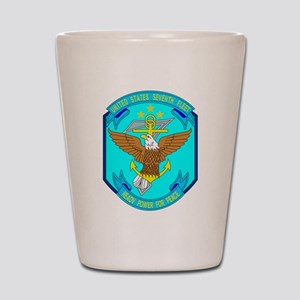 US Navy 7th Fleet Emblem Shot Glass