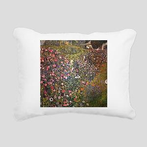 Gustav Klimt Italian Garden Rectangular Canvas Pil