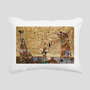 Gustav Klimt Tree Of Life Rectangular Canvas Pillo
