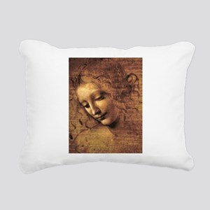 Leonardo Da Vinci La Scapigliata Rectangular Canva