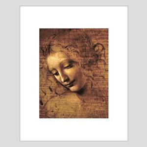 Leonardo Da Vinci La Scapigliata Small Poster