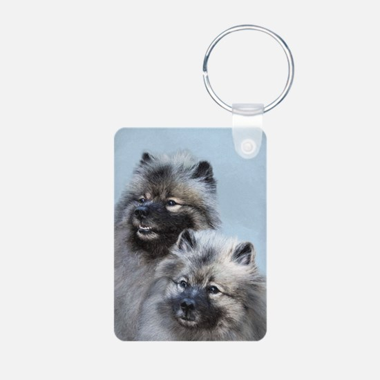 Keeshond Brothers Keychains