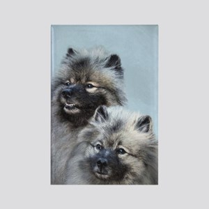 Keeshond Brothers Rectangle Magnet