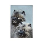 Keeshond Brothers Rectangle Magnet (10 pack)