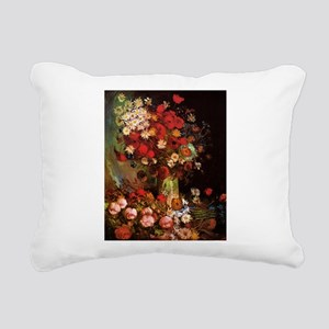 Van Gogh Flowers Rectangular Canvas Pillow