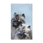 Keeshond Brothers Sticker (Rectangle 50 pk)