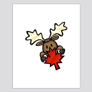 Canada Day + Moose Small Poster