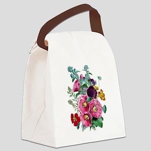 hollyhocks Canvas Lunch Bag
