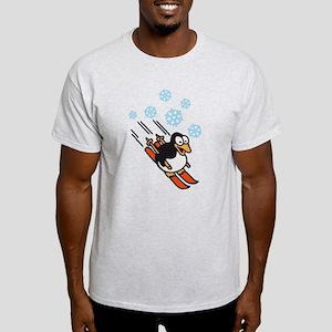 penguin skiing Light T-Shirt