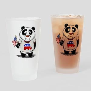 Panda Politics Republican Drinking Glass