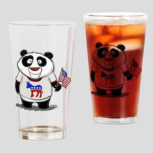 Panda Politics Democrat Drinking Glass