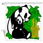 Panda and Baby Shower Curtain