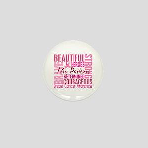 Tribute Square Breast Cancer Mini Button