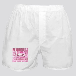 Tribute Square Breast Cancer Boxer Shorts