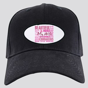 Tribute Square Breast Cancer Black Cap