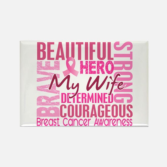 Tribute Square Breast Cancer Rectangle Magnet (10