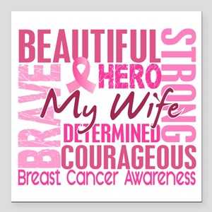 Tribute Square Breast Cancer Square Car Magnet 3""