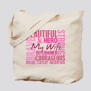 Tribute Square Breast Cancer Tote Bag