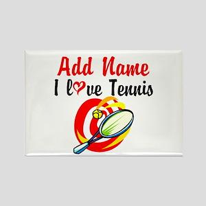 I LOVE TENNIS Rectangle Magnet