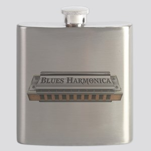 Blues Harmonica Flask
