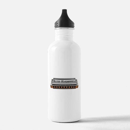 Blues Harmonica Water Bottle