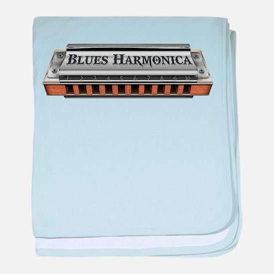 Blues Harmonica baby blanket