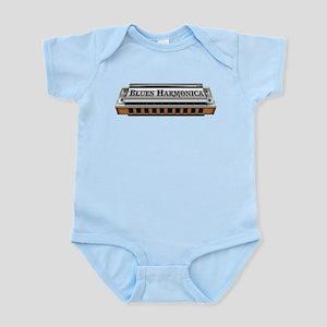Blues Harmonica Infant Bodysuit