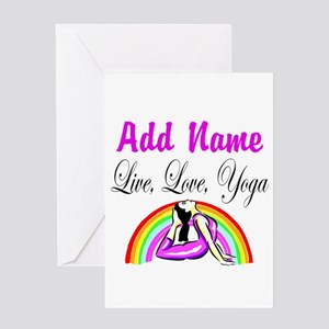 I LOVE YOGA Greeting Card